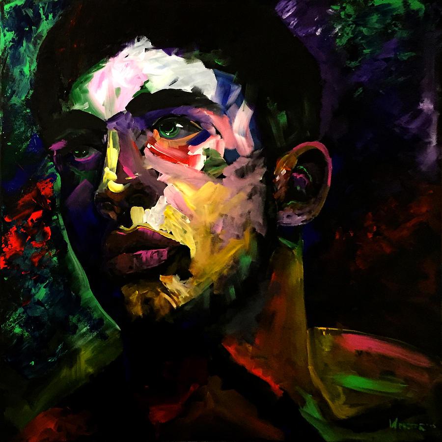 Mark Webster Artist Painting - Mark Webster Artist - Dave C. 0410 by Mark Webster Artist