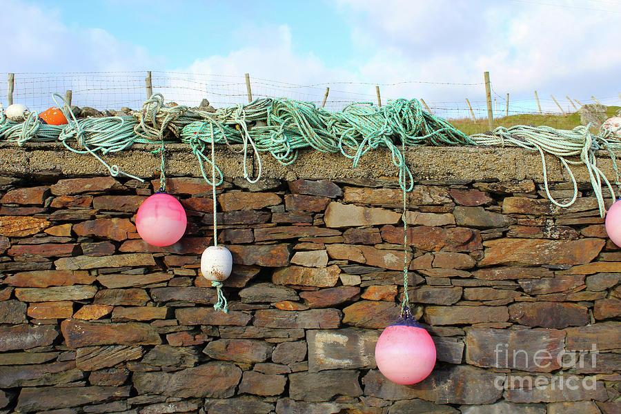 Marker Buoys Fintragh Donegal Ireland by Eddie Barron