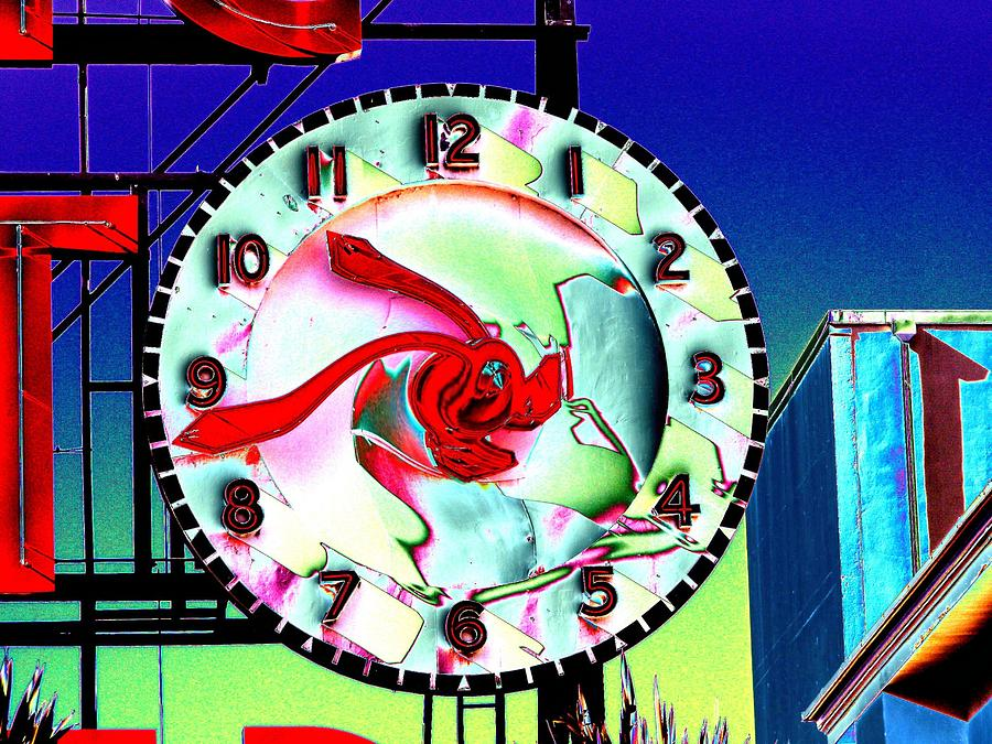 Seattle Photograph - Market Clock 2 by Tim Allen