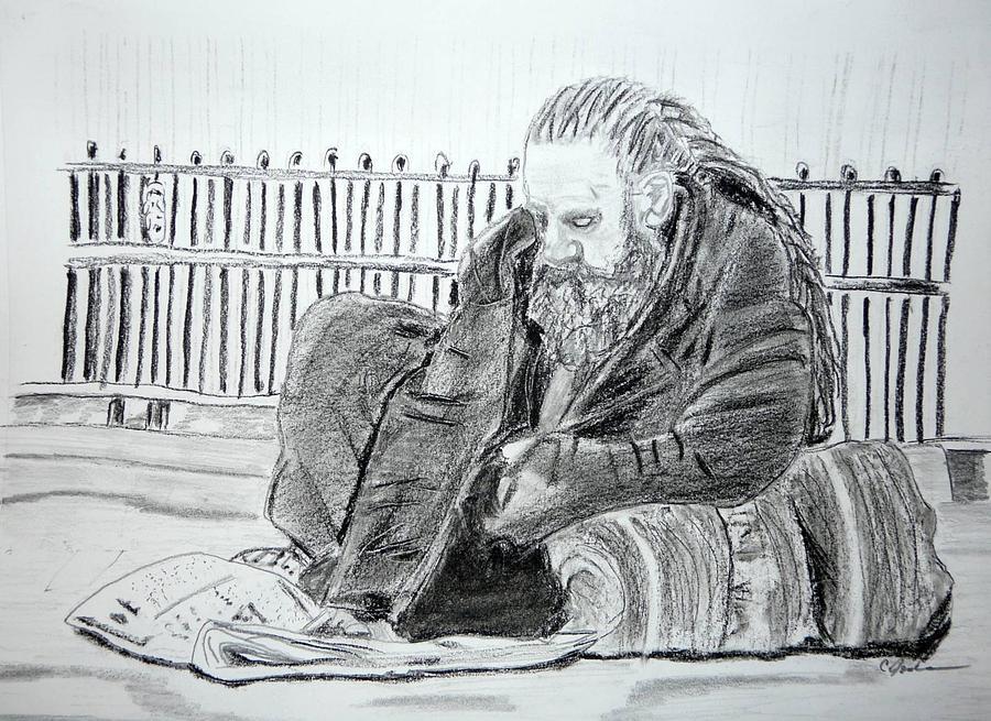Market Crash Drawing by Cathy Jourdan