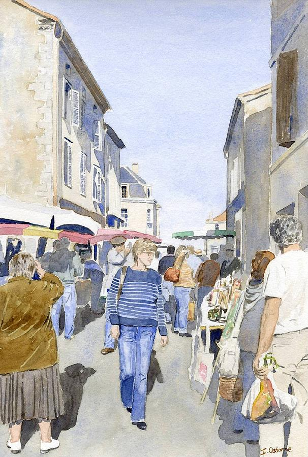 Watercolour Painting - Market Day   by Ian Osborne