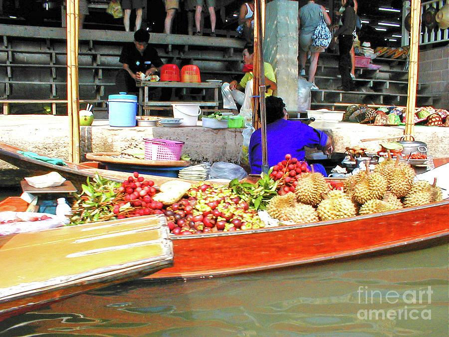 Thailand Photograph - Market In Thailand by Eunice Warfel