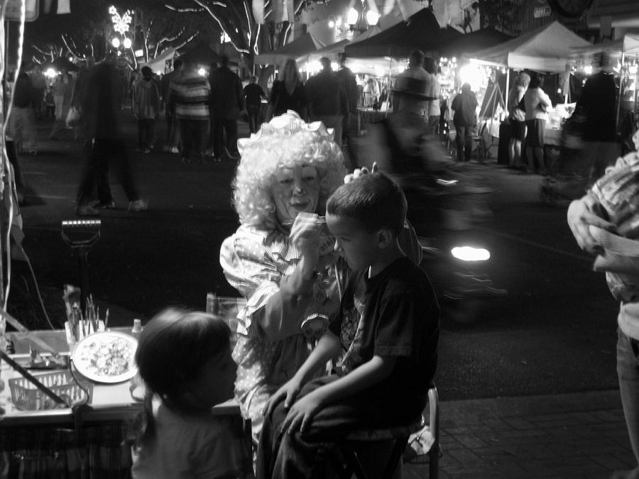 Clown Photograph - Market Night by Ashley Cauvel