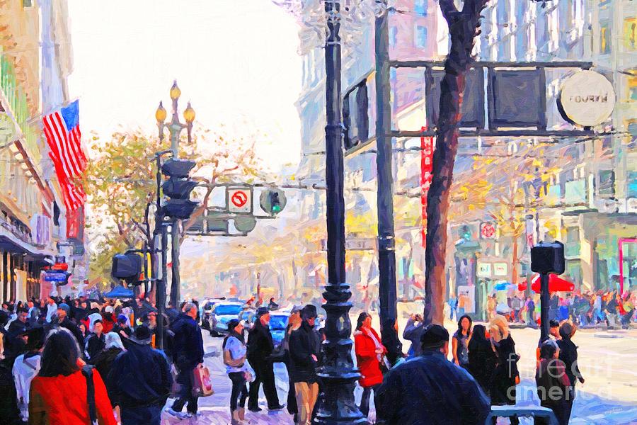 Market Street Photograph - Market Street - Photo Artwork by Wingsdomain Art and Photography