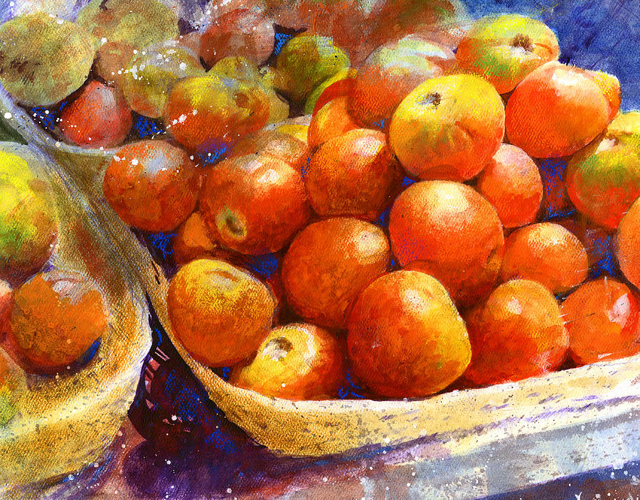 Fruit Painting - Market Tomatoes by Andrew King