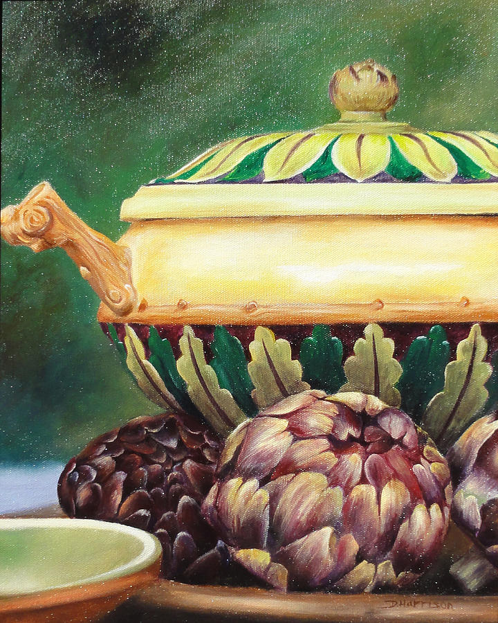 Artichoke Painting - Market Tureen by Denise H Cooperman