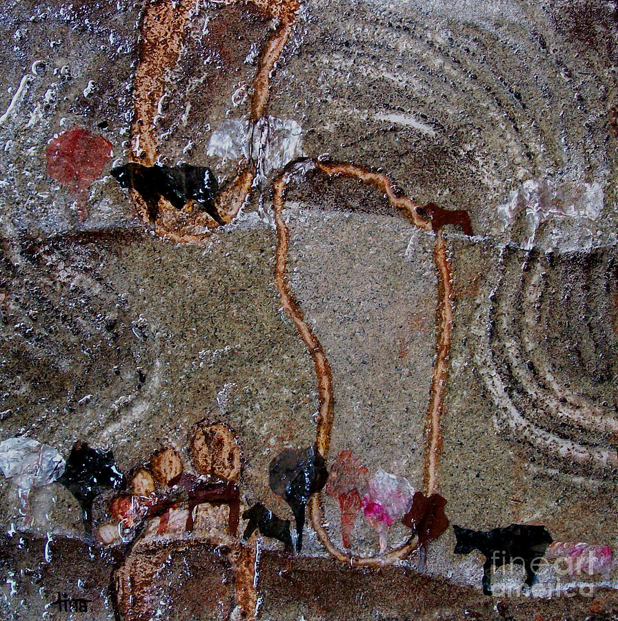 Mixed Media Painting - Marks In Dirt by Tina Siddiqui
