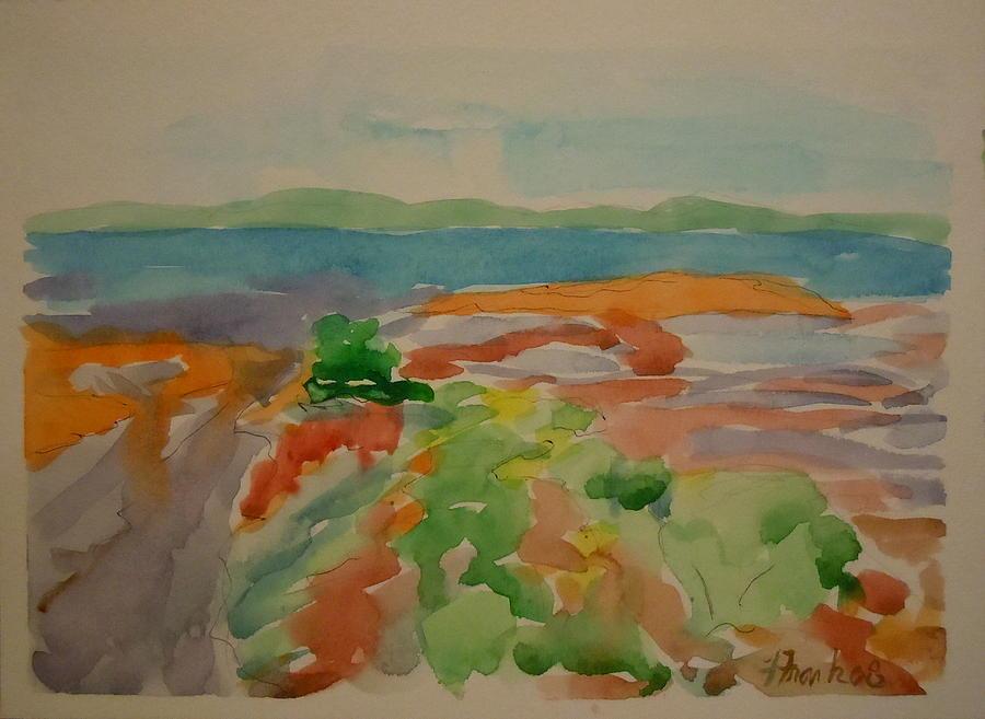 Maine Landscape Painting - Marlboro Beach by Francine Frank