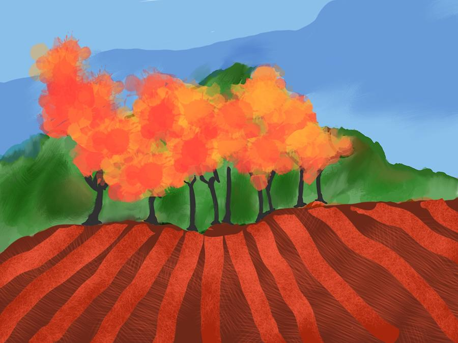 Trees Digital Art - Marlborough Fall by Brett Shand