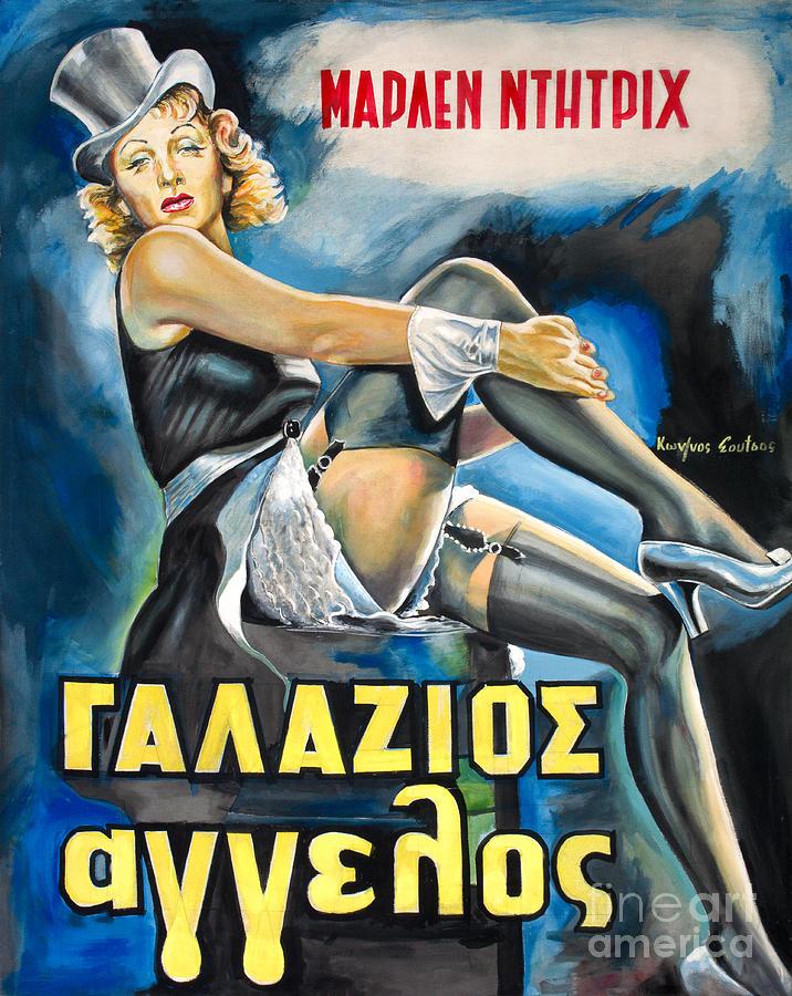Marlen Dietrich - Der Blaue Engel 1930 by Star Portraits Art