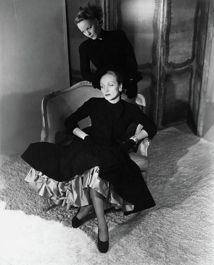 Marlene Dietrich And Her Daughter Maria Riva Photograph by Horst P Horst