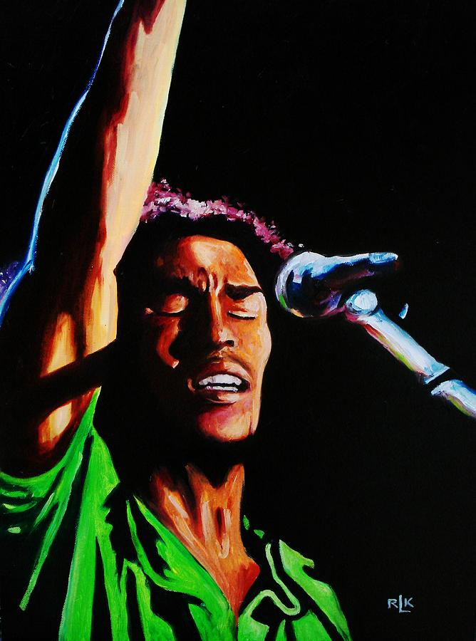 Reggae Painting - Marley One Love by Richard Klingbeil