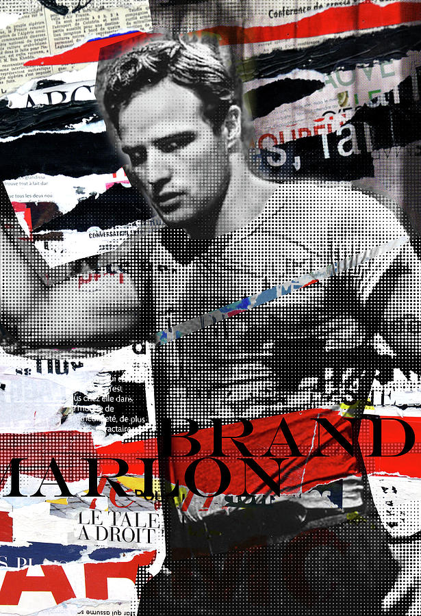 Marlon Brando torn poster by Luz Graphic Studio