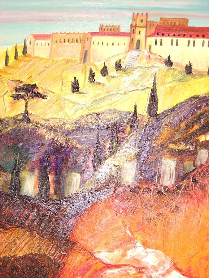 Landscape Painting - Maroccan Landscape by Hannelore Amon