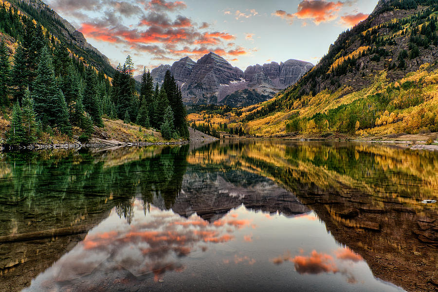 Maroon Bells at Sunset by David Soldano