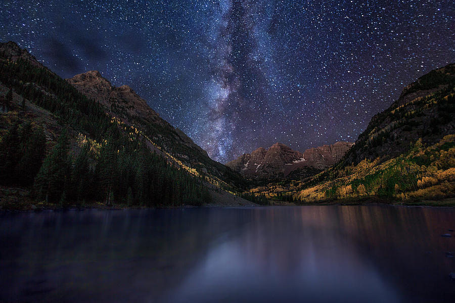 Maroon Bells Colorado Milky Way