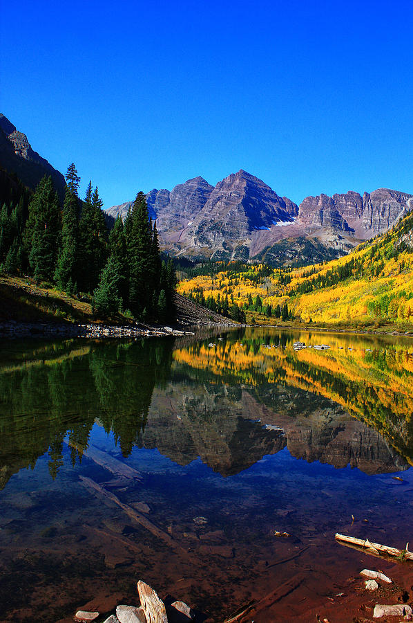 Colorado Photograph - Maroon Bells In Aspen 2 by Bruce Hamel