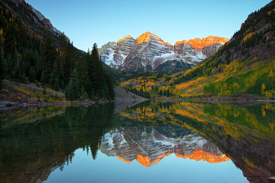 Maroon Bells Reflection by Nancy Dunivin