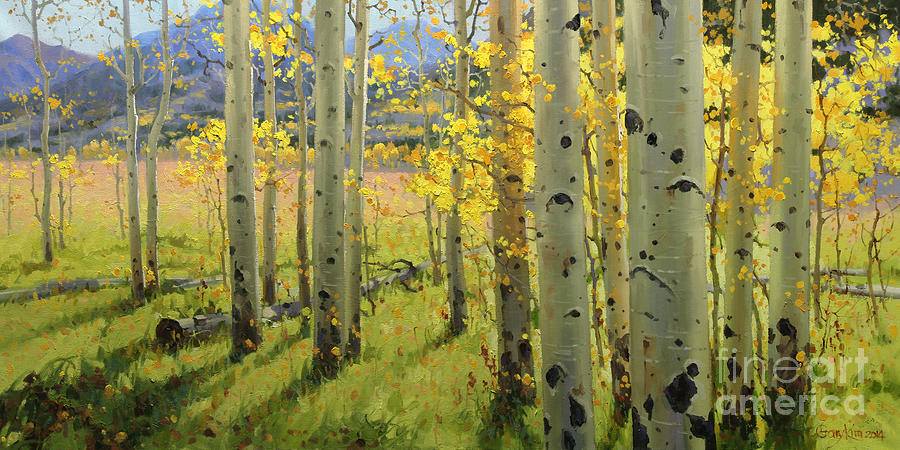 Painting Of Birch Trees For Sale