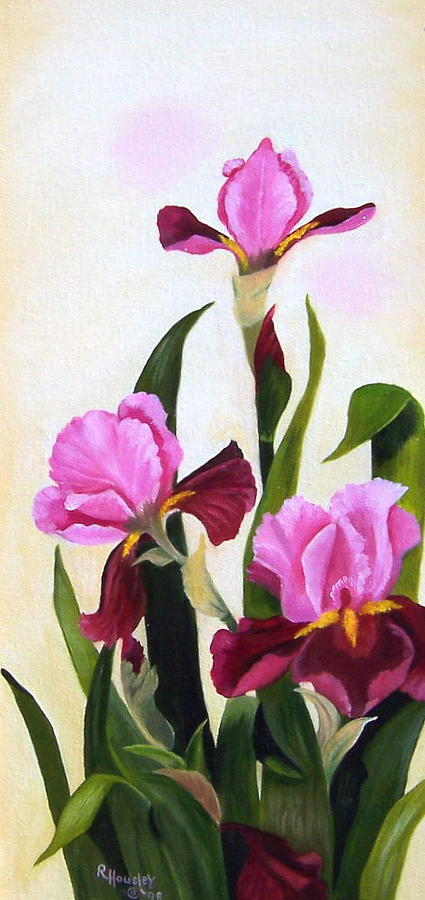 Floral Painting - Maroon Iris by Ruth  Housley