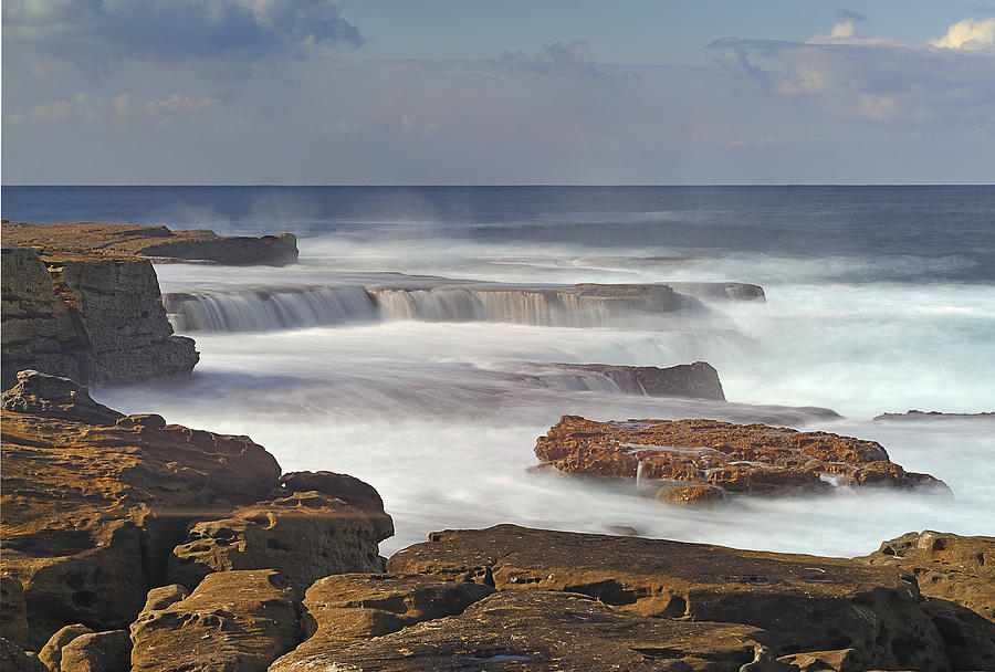 Seascape Photograph - Maroubra Seascape 01 by Barry Culling