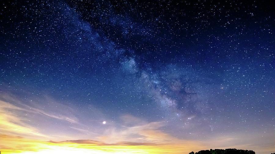 Mars Ascending towards the Milky Way by James-Allen