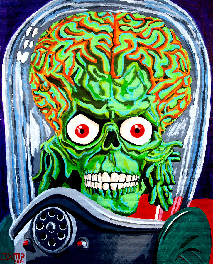 Mars Attacks Painting - Mars Attacks by Jose Mendez