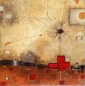 Mars Red Painting by Ben Mitchell