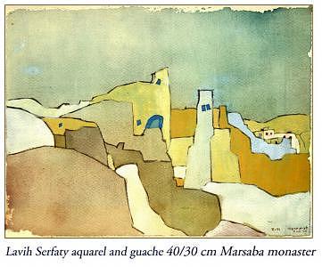 Marsaba Monaster Painting by Lavih Serfaty