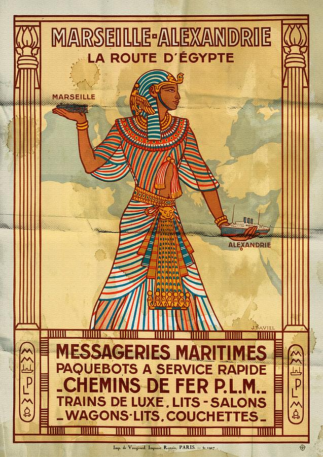 Marseille - Alexandrie La Route D'Egypte - Folded by Vintage Advertising Posters