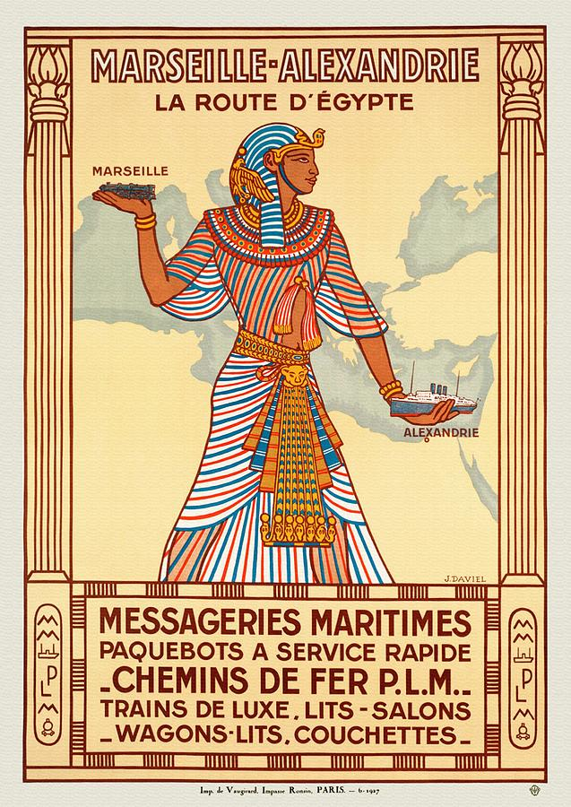 Marseille - Alexandrie La Route D'Egypte - Restored by Vintage Advertising Posters