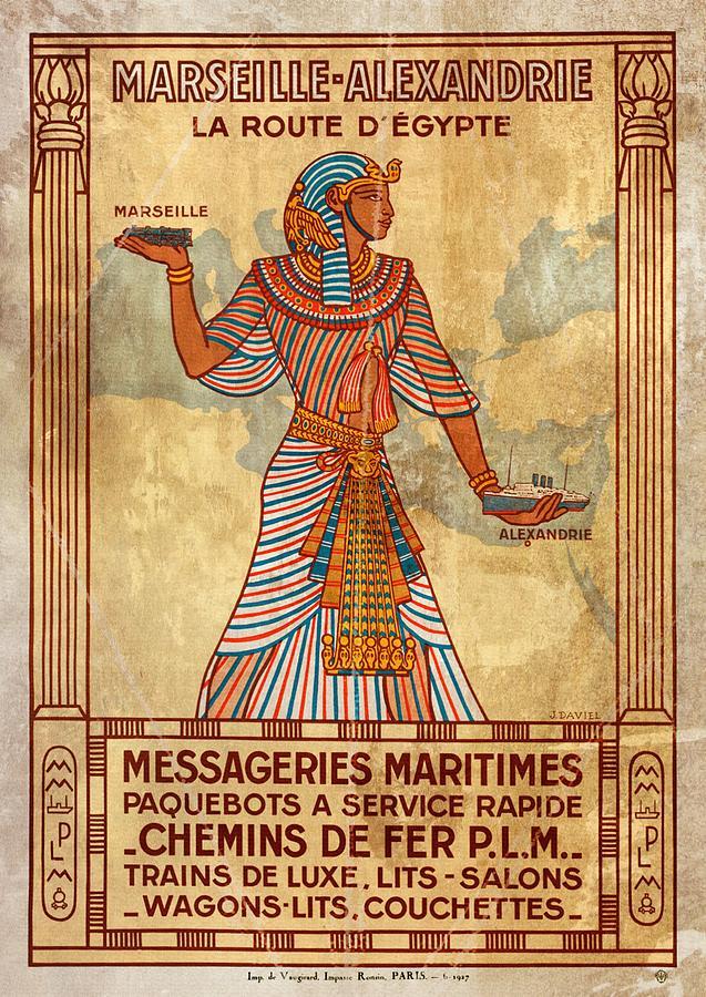 Marseille - Alexandrie La Route D'Egypte - Vintagelized by Vintage Advertising Posters
