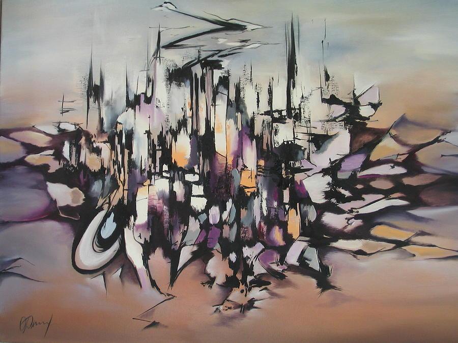 Fantasy Painting - Marseille by Olga Dmytrenko