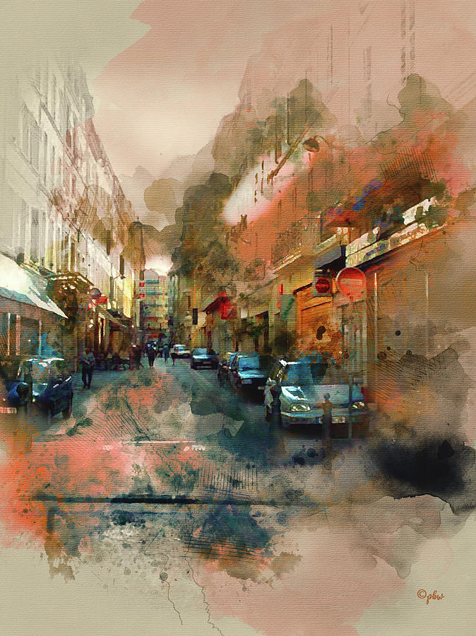 Marseille Side Street by Paulette B Wright