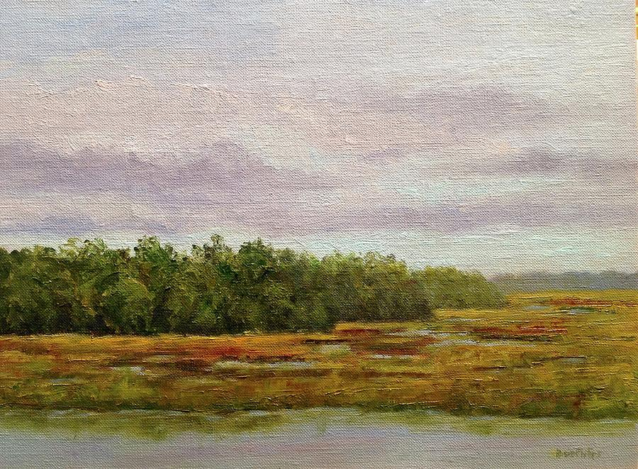 Marsh At Botany Bay Plantation Beach Painting by Rosie Phillips