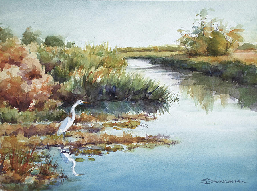 Marsh Canal by Sue Zimmermann