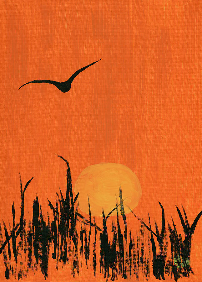 Bird Painting - Marsh Home by Alexis Grone