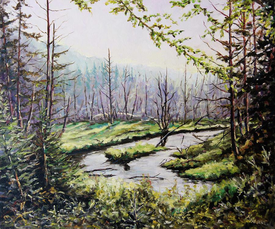 Art Painting - Marsh Lands by Richard T Pranke