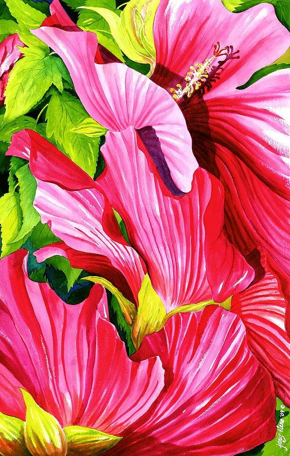 Flower Painting - Marsh Mallow Shrub by Janis Grau
