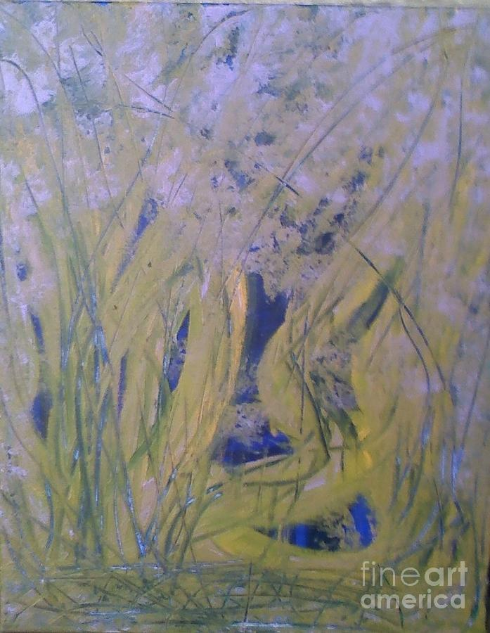 Abstracts Painting - Marsh Moment by Leslie Revels Andrews
