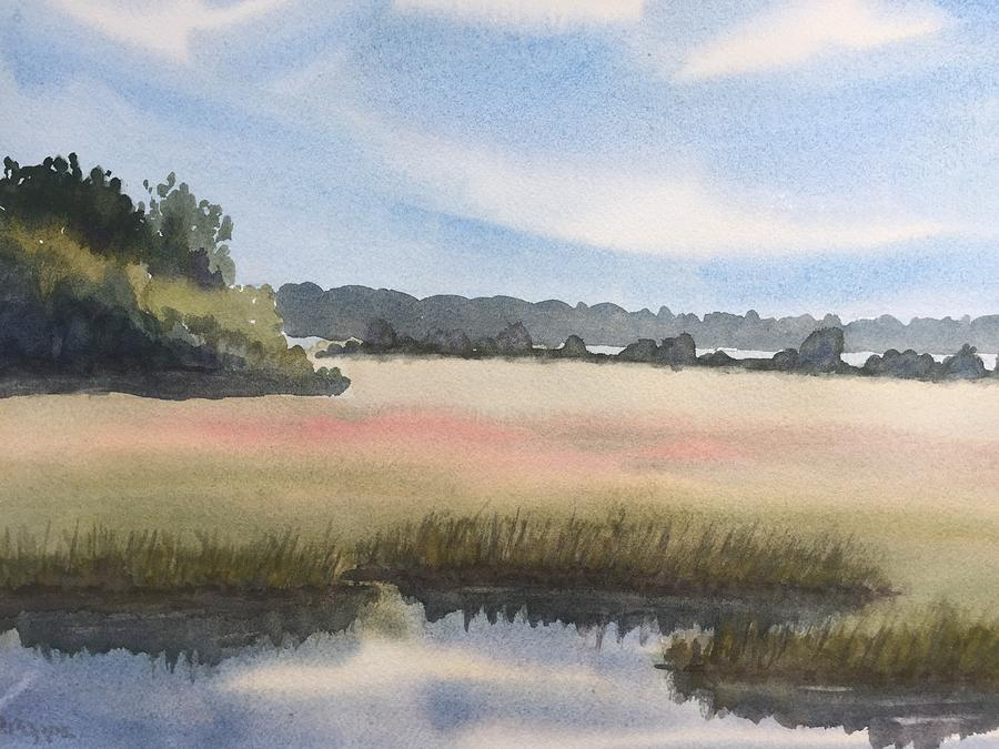 North Shore Painting - Marsh by Peggy Poppe