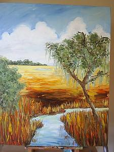 Marsh Scene 1 Painting by Margi Weyers