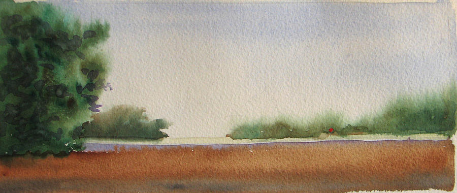 Marsh Painting - Marsh With Marker by Libby  Cagle