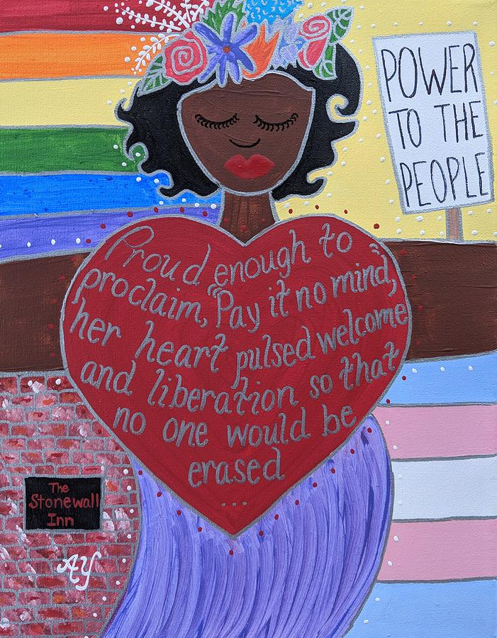 Holy Painting - Marsha P Johnson by Angela Yarber
