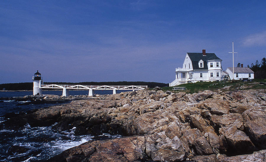 Marshall Point Light Photograph - Marshall Point Light by Skip Willits