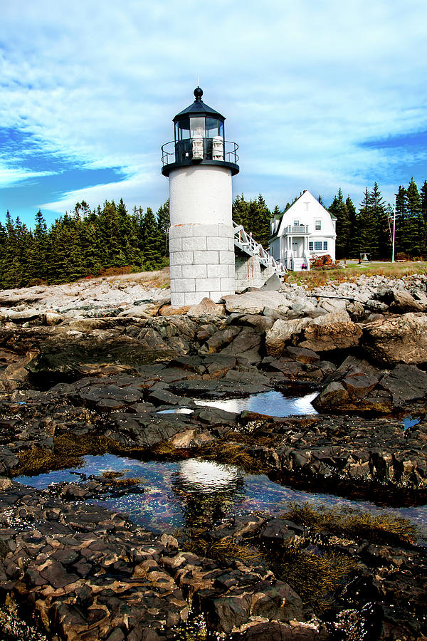 Maine Photograph - Marshall Point Reflection by Greg Fortier