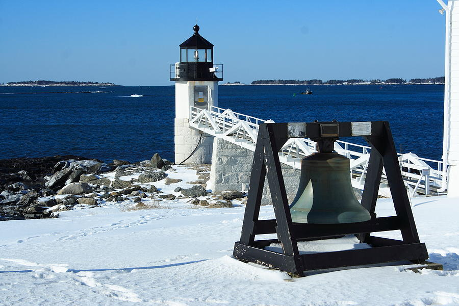 Seascape Photograph - Marshall Point Snow by Doug Mills