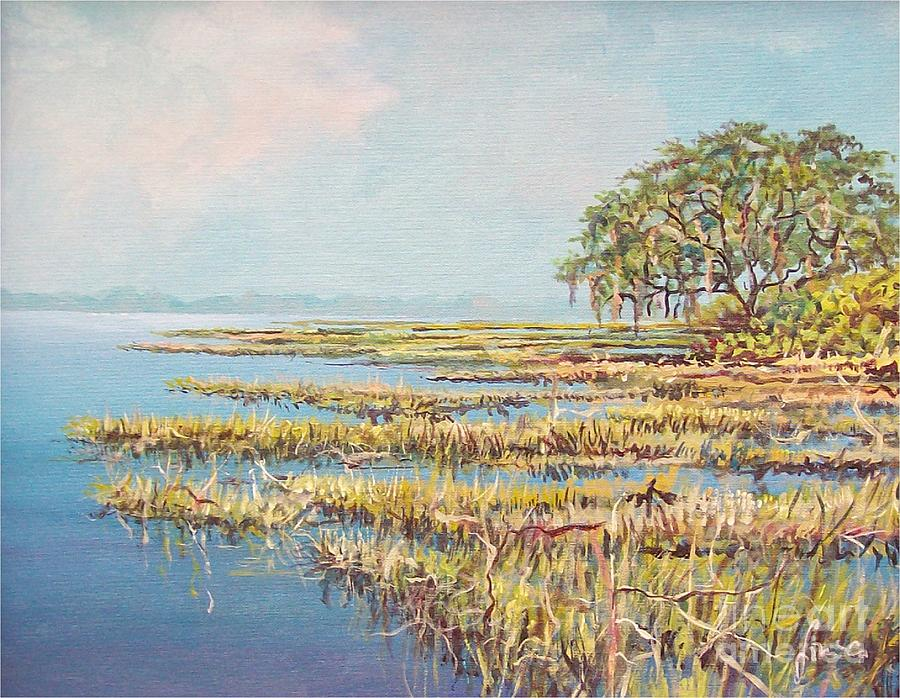 Water Painting - Marshland by Sinisa Saratlic