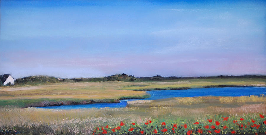 Water Pastel - Marshside by Cindy Plutnicki