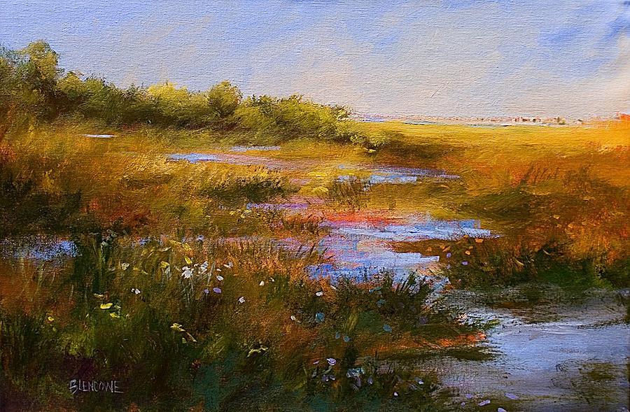 Marsh Painting - Marshview II by Jan Blencowe